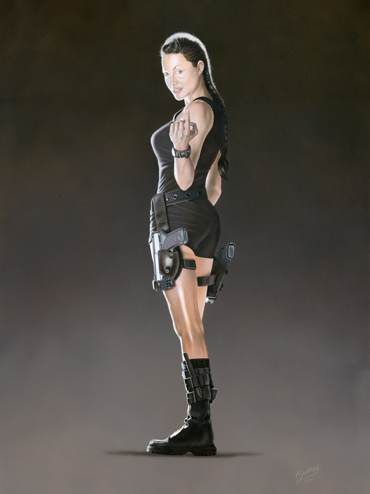 Angelina Jolie (Tomb Raider, side-on) by Mark Davison