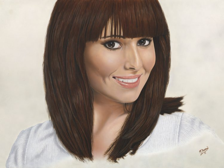 Cheryl Cole painting by Mark Davison