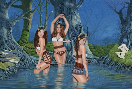 Girls in Water by Mark Davison (painting)