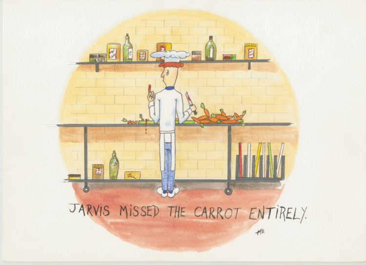 Jarvis (missed the carrot entirely) [cartoon chef]