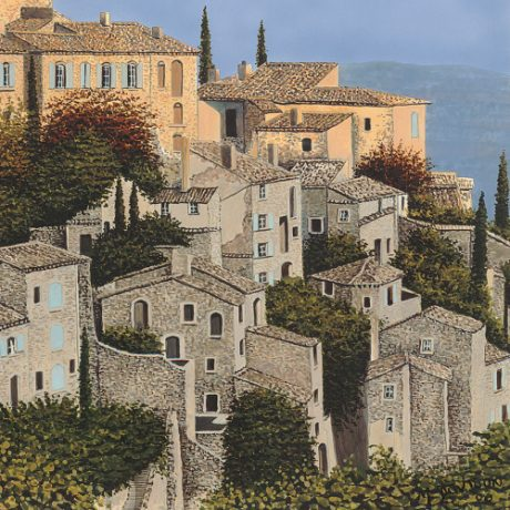 Sunrise in Provence (painting by Mark Davison) [detail]